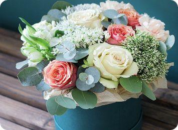 Цветы в коробке екатеринбург недорого