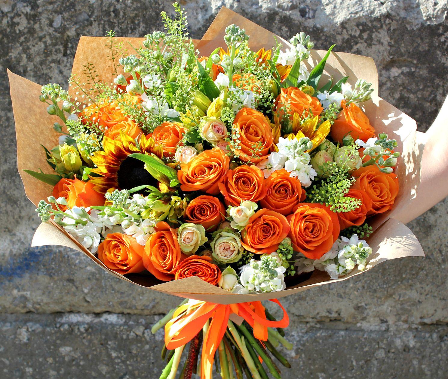 Цветов ростов, оранжевые цветы для букетов