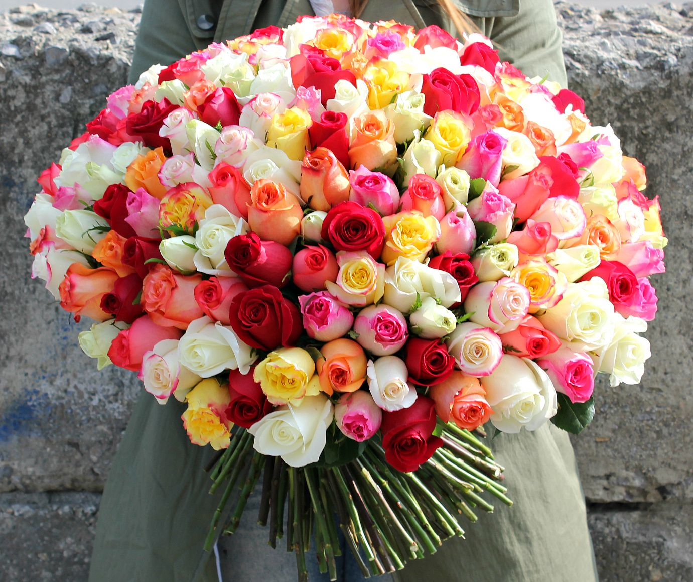 фото букета роз огромного