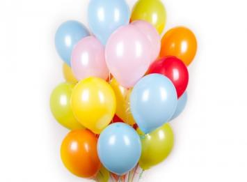 разноцветные воздушные шарики недорого