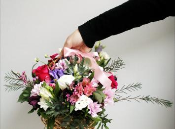 корзинка цветов цена
