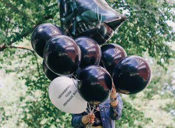 черные воздушные шары недорого