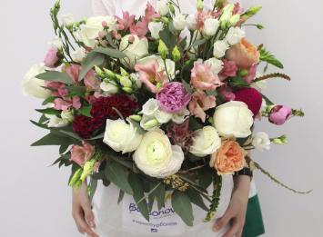цветы в мешке недорого