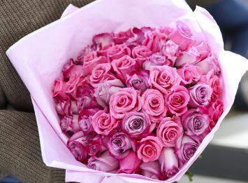 51 розовая роза цена