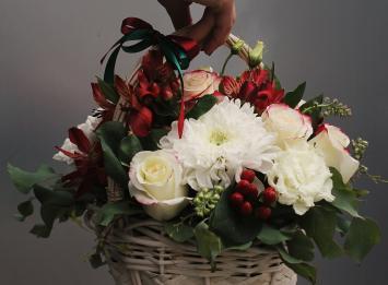 корзина с розами недорого