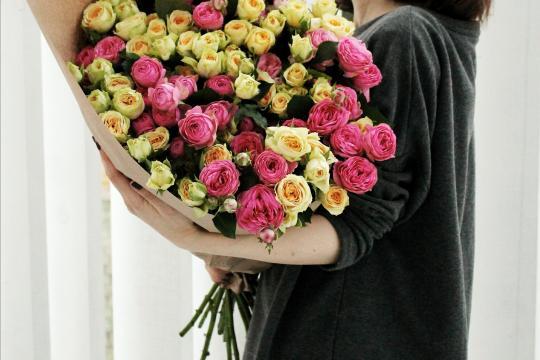кустовые пионовидные розы недорого