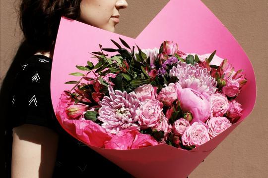 розовый букет недорого