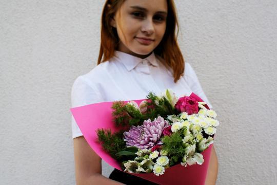 букет цветов к 1 сентября цена