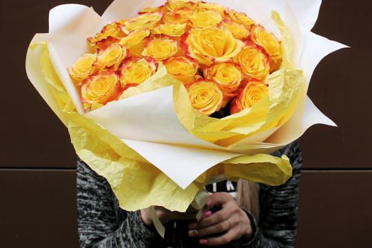 желтые розы недорого