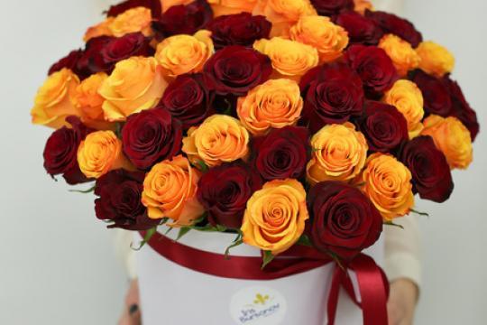 Коробка цветок