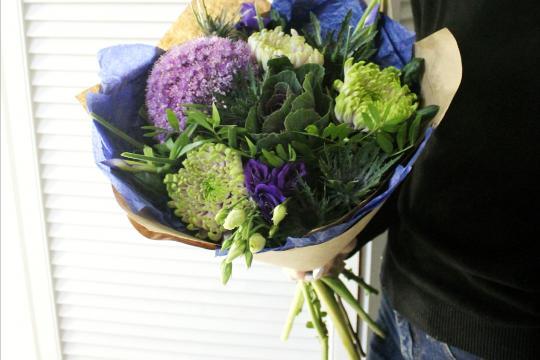 букет с хризантемами цена