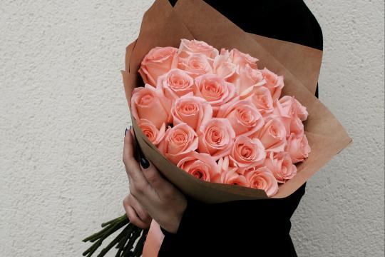 Нежно розовый букет