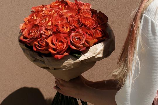 розы 25 штук недорого
