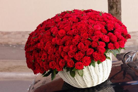 Букет роз много
