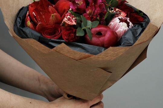 цветы в букете недорого
