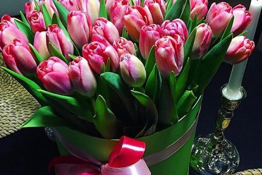 Букет тюльпанов доставкой