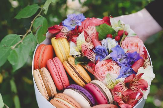 коробочка с цветочной композицией ценв