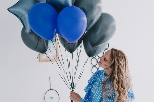 синие воздушные шары цена