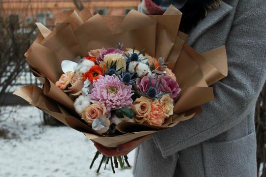 небольшой букетик цветов цена