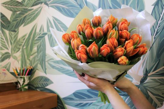 25 пионовидных тюльпанов цена