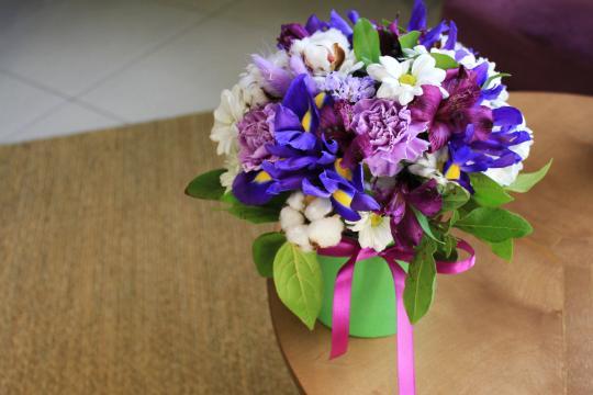 маленькая коробочка с цветами цена